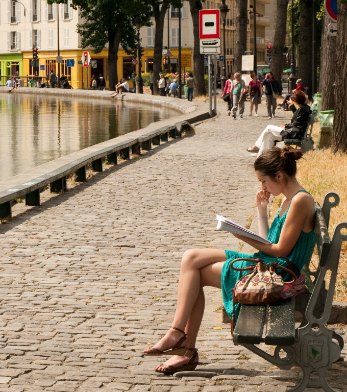 Canal Saint- Martin … on se sent bien !