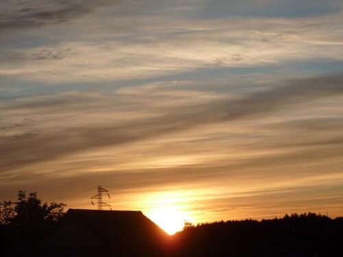 coucher de soleil banal