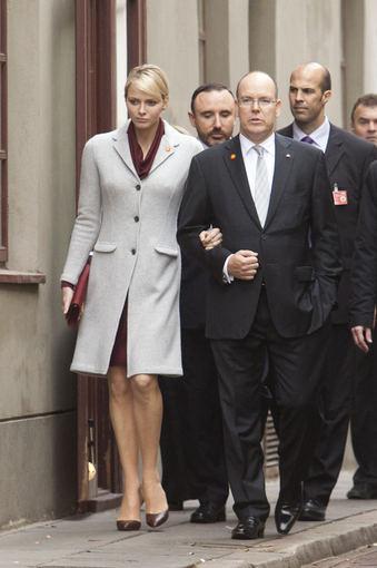 Charlène, Albert et le premier ministre