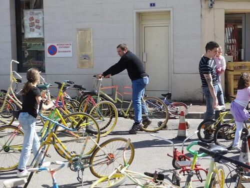 Des vélos en folie à Châtillon sur Seine !