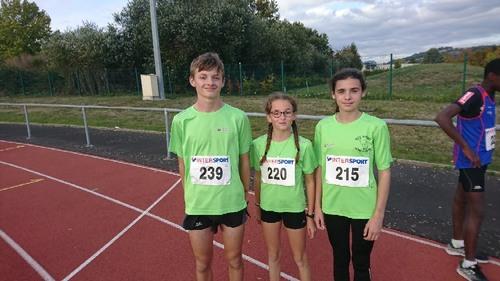 Compétition sur piste des jeunes à Aurillac