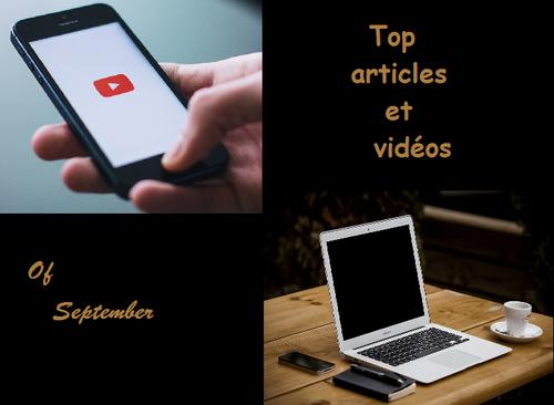 Meilleurs articles et vidéos du mois de septembre