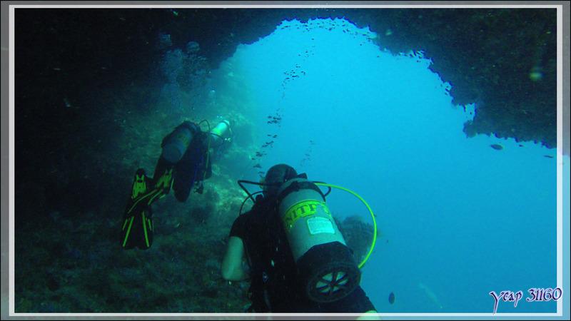 Sortie de grotte - Rehi Thila - Atoll d'Ari - Maldives