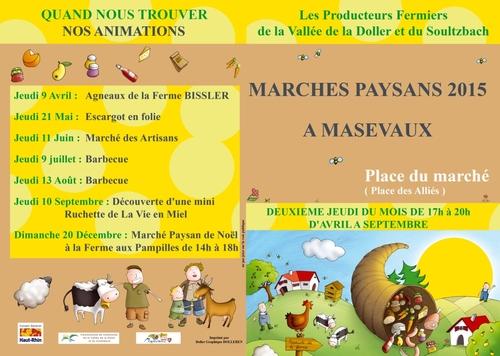 Retrouvez-nous sur le marché des petits producteurs de la Vallée de la Doller