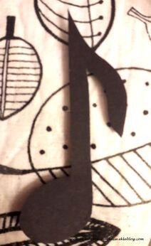 Etiquettes pour le porte manteau #4, note, croche, musique