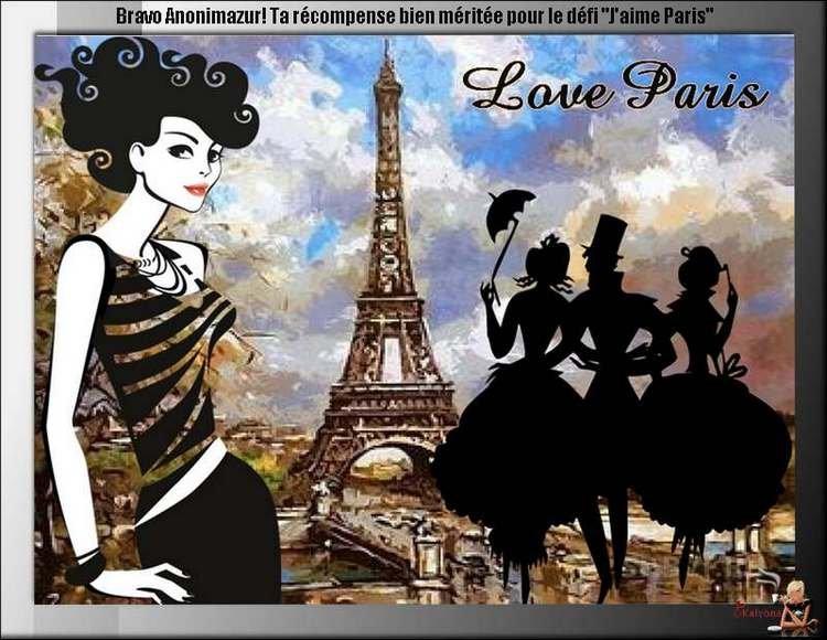 """Défi des membres """"j'aime Paris"""""""