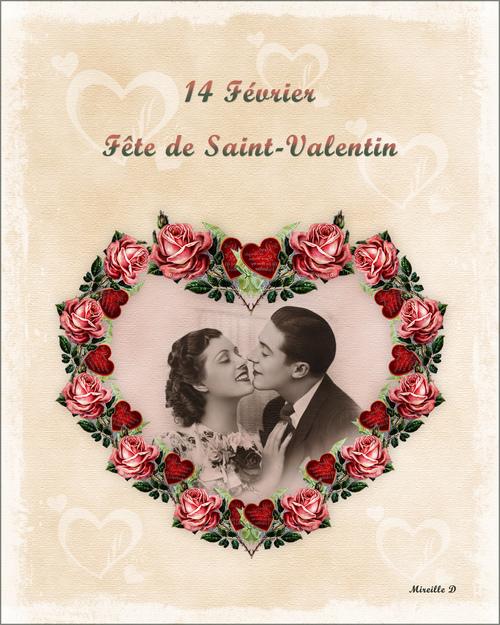 Carte de Saint-Valentin Vintage