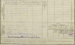 Claude Desnier registre matricule