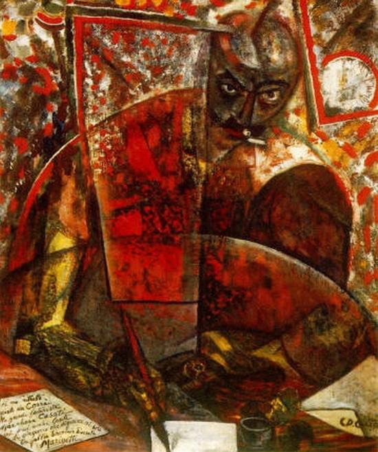 Carlo Carrà, Portrait de Marinetti, 1911