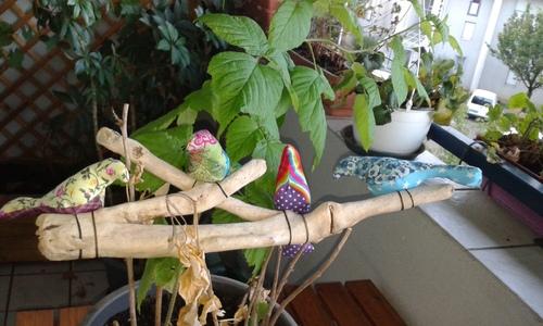 De jolis oiseaux pour décorer la chambre de n°2