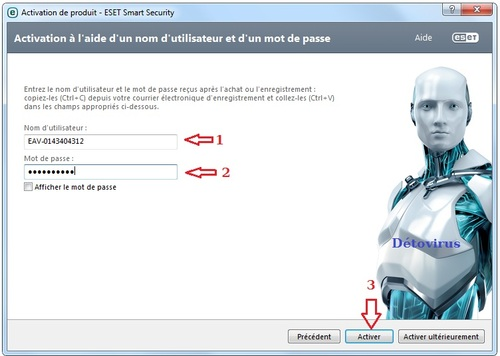 Eset Smart Security 8 - Licence 3 mois gratuits