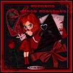 Cadre HTML rouge et noir saint valentin