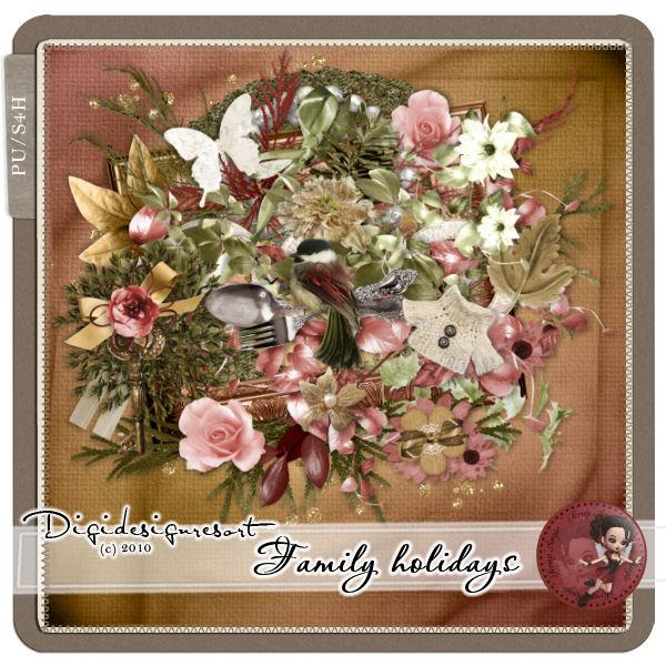 """Kit """" Family Hollidays"""" de Scrap'Angie"""