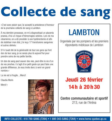 Le Service d'incendie de Lambton vous invite à participer à cet évènement. C'est pour une bonne cause.