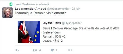 Chronique du Brexit (II)