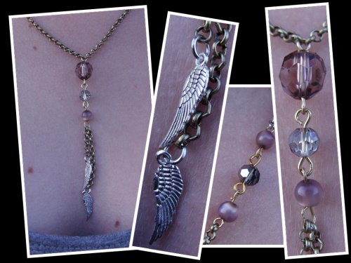"""Bijoux mélange couleur or et argent """"ailes d'ange"""""""