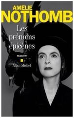 Les prénoms épicènes d'Amélie Nothomb