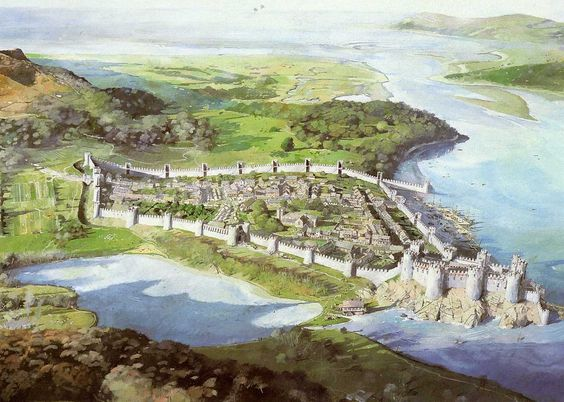 Ciudad amurallada de Conwy (Gales). Hoy en día se mantienen parte de las murallas y el magnífico castillo, uno de los construidos por Eduardo I. http://www.elgrancapitan.org/foro/viewtopic.php?f=87&t=16834&p=897113#p897113