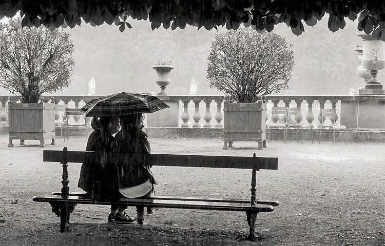 Il pleut sur le Jardin du Luxembourg