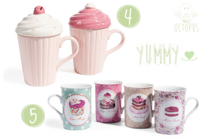 mugs mignons cute kawaii - cupcake gâteaux Maison du monde - Magic Octopus blog