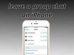 How to leave a group chat on iPhone