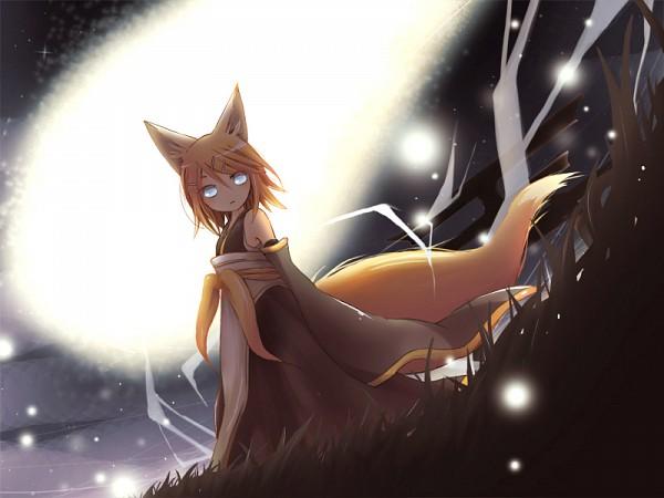 Tags: Anime, Pixiv Id 89630, VOCALOID, Kagamine Rin, Amatsukitsune, Pixiv, Heavenly Fox