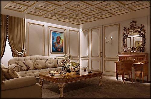 Maquette du salon présidentiel