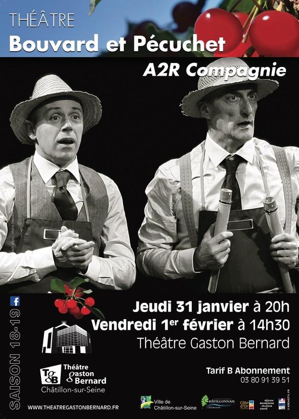 """""""Bouvard et Pécuchet"""" bientôt au Théâtre Gaston Bernard !"""