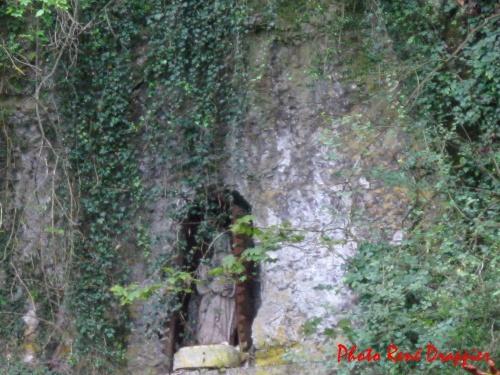 Le toilettage de la falaise de la Douix de Châtillon sur Seine...