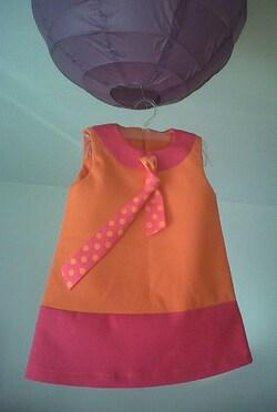 """Robe enfant """"Pink"""" Au Jardin d'Aurélie"""""""