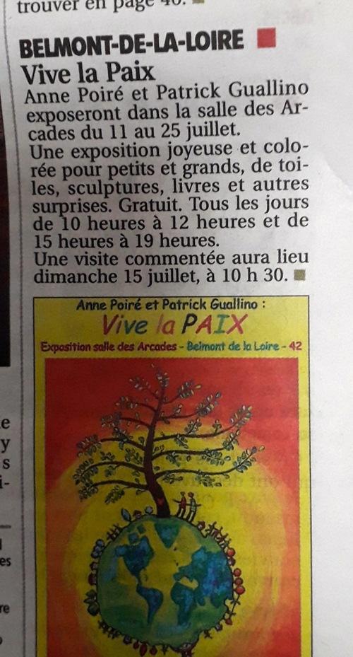 Vive la PAIX - l'expo démarre