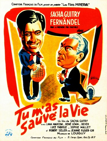 TU M'AS SAUVE LA VIE - BOX OFFICE FERNANDEL 1951