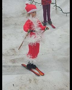 Barbie noel fait du ski