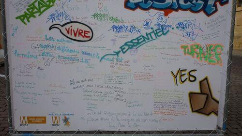 Encouragement aux tags sur les murs