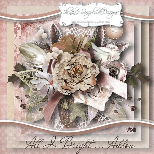 "Addon ""All Is Bright"" by Ilonka's Scrapbook Designs"