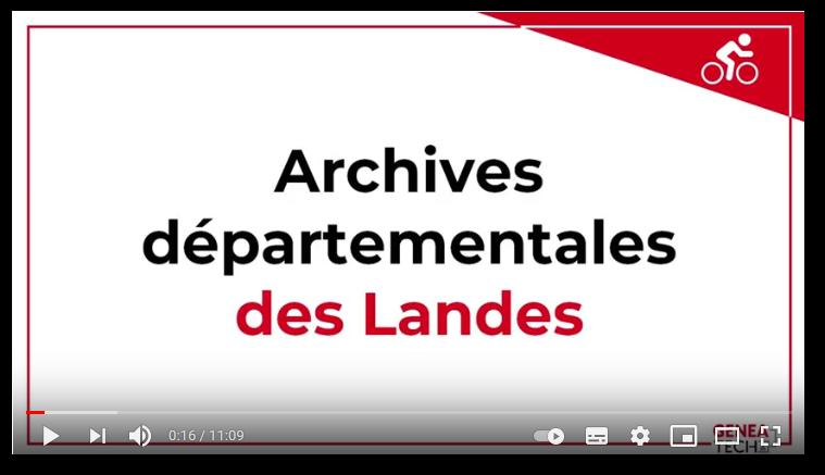 Présentation des archives départementales des Landes