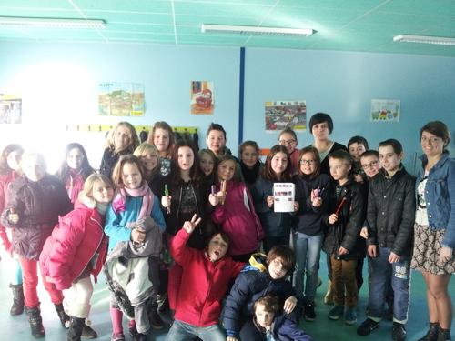 Les Gazelles à la rencontre d'écoliers