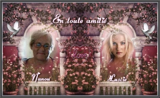 SUPERBE CREATION DE MON AMIE LUSCIE QUI REPRESENTE L'AMITIE  MERCI