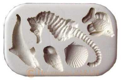 moule en silicone pour loisirs créatifs (plâtre, céramique, savon, cire à bougie, Fimo,...) sur le thème de la mer - Arts et sculpture: sculpteur mouleur