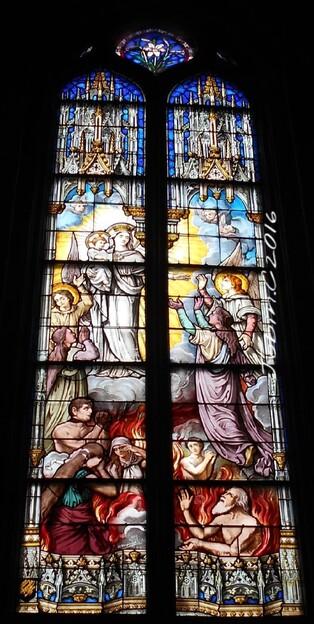 Intérieur de l'Eglise Saint-Malo à Dinan