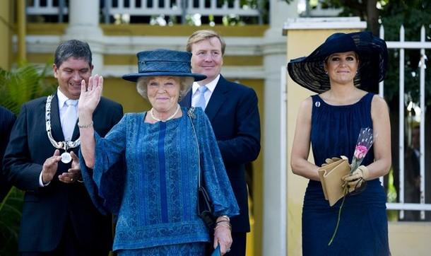 Beatrix, Maxima et Willem Alexander à Bonaire