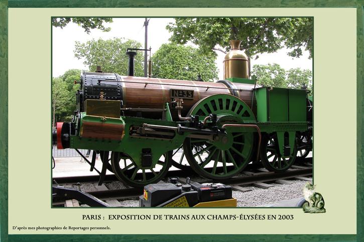 Exposition de Trains sur les Champs Élysées en 2003 de Philippe