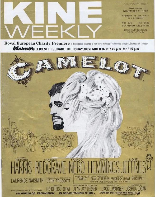 CAMELOT BOX OFFICE USA 1967