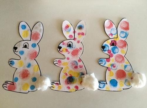 Tampons à l'encre : le lapin à pois