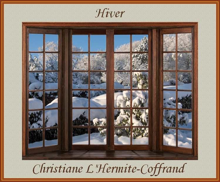 """"""" Hiver """" poème de Christiane L'Hermite-Coffrand"""