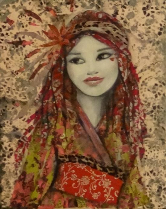 jeune fille aux dreadlocks et kimono
