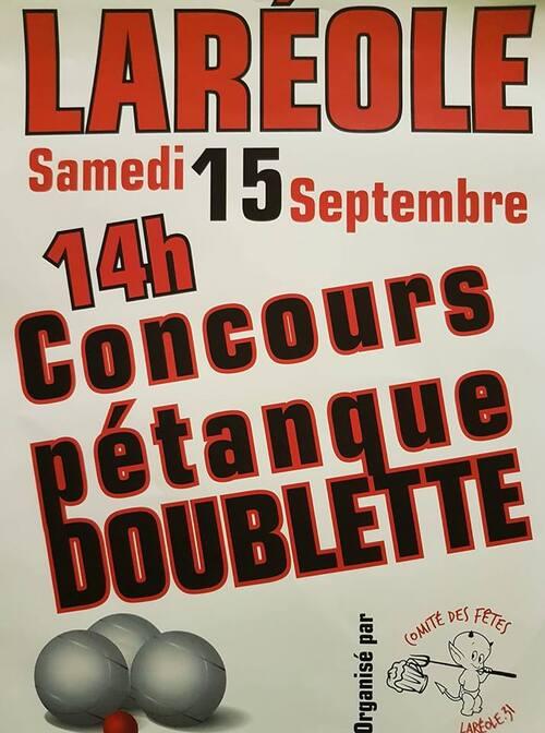 Concours Amical Doublette à Laréole