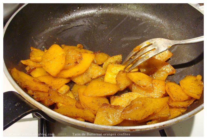 Tatin de Butternut Oranges confites