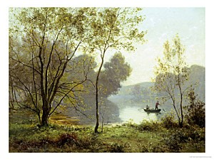 albert-gabriel-rigolot-late-summer-afternoon-on-the-lake