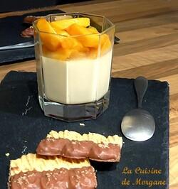 Panacotta chocolat blanc et mangue fraiche